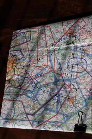 navigation solo 150 NM carte